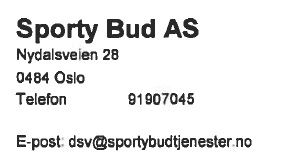 Sporty Bud AS / Norges Bud & Transport Tjenester AS